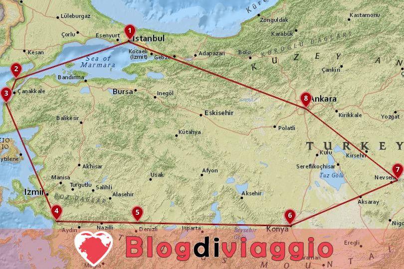 7 giorni in Turchia Tour classico