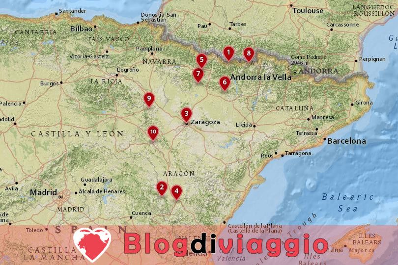 10 Luoghi da visitare in Aragona, Spagna