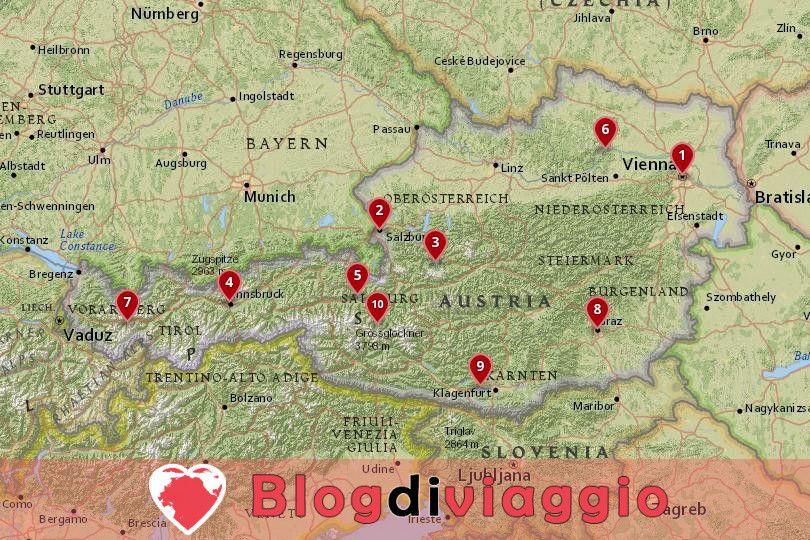 10 Luoghi da visitare in Austria