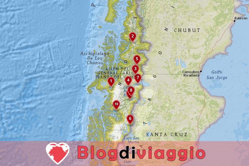 10 Luoghi da visitare ad Aysen, Cile