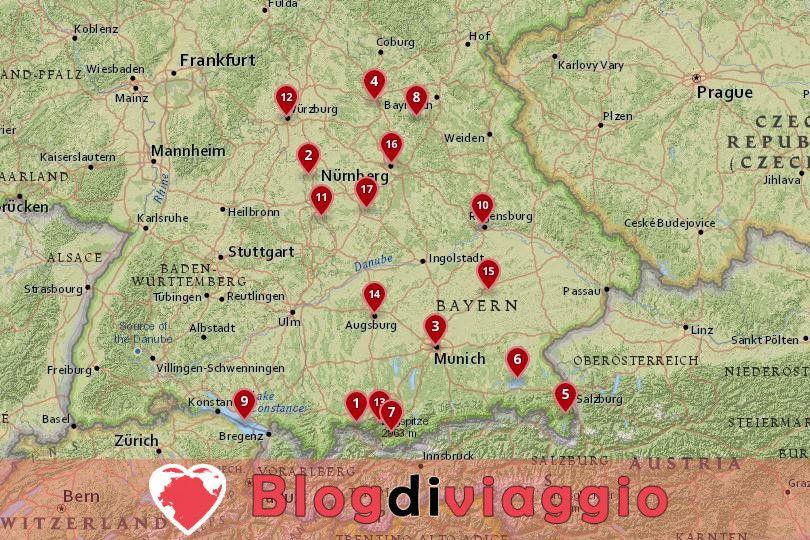 17 Luoghi da visitare in Baviera, Germania