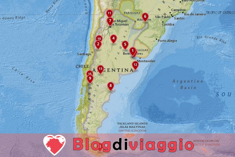 15 Migliori città da visitare in Argentina