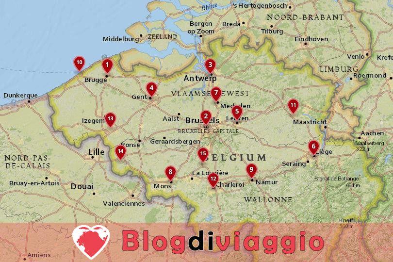 15 Migliori città da visitare in Belgio