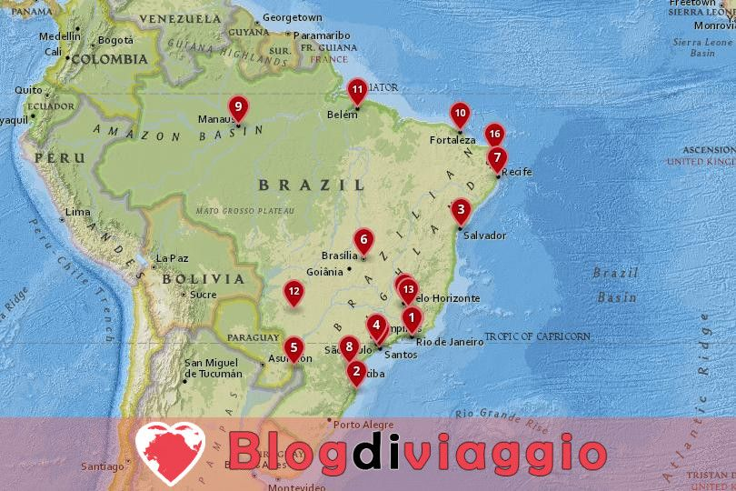 17 Migliori città da visitare in Brasile