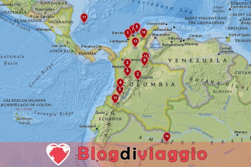 15 Migliori città da visitare in Colombia