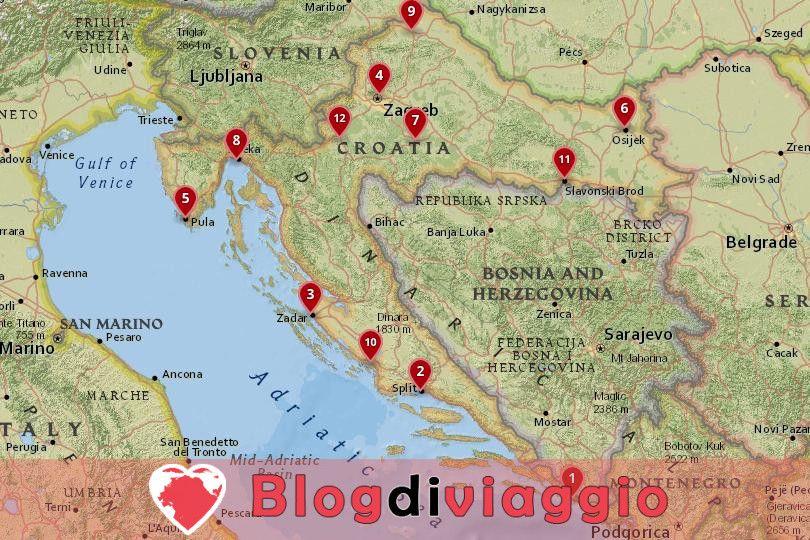 12 Migliori città da visitare in Croazia