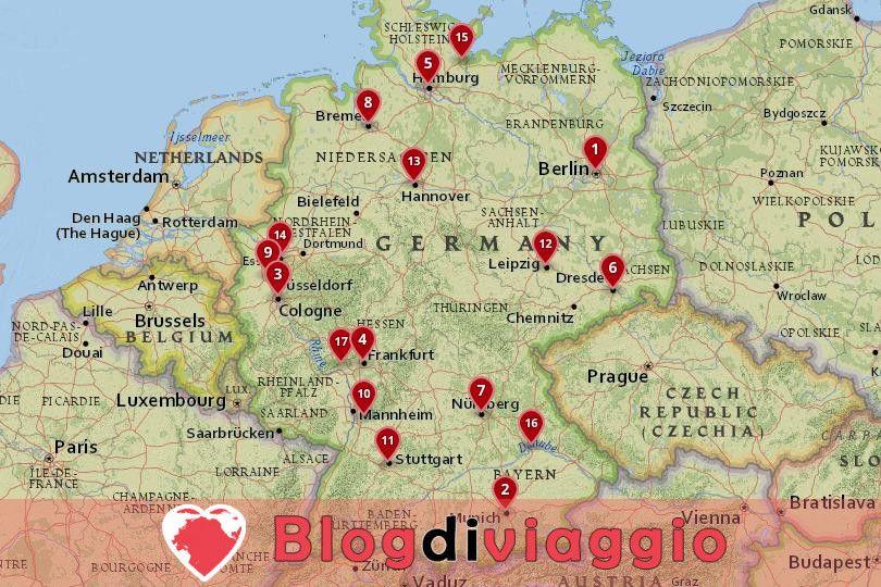 17 Migliori città da visitare in Germania