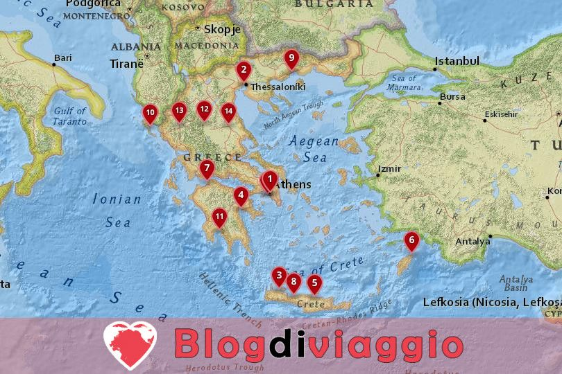 15 Migliori città da visitare in Grecia