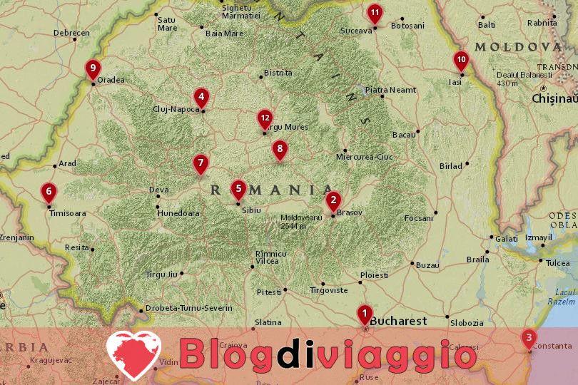 12 Migliori città da visitare in Romania
