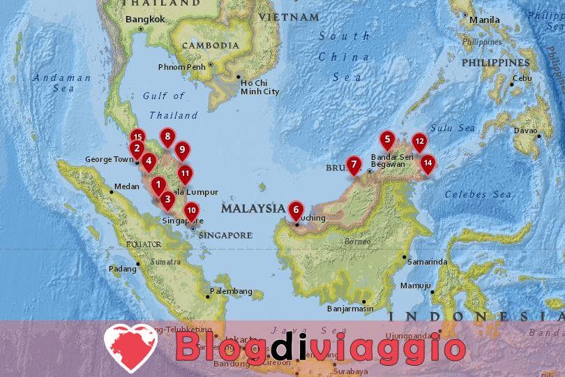 15 Migliori città da visitare in Malesia