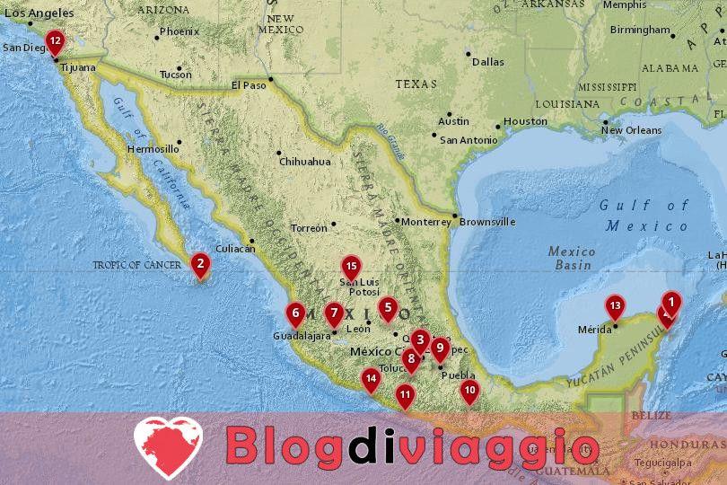 15 Migliori città da visitare in Messico