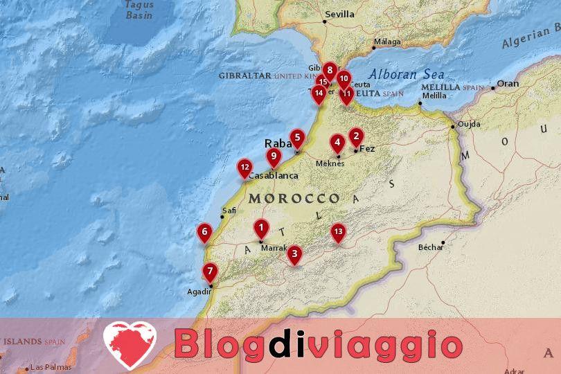 15 Migliori città da visitare in Marocco