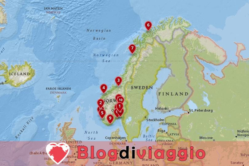 15 Migliori città da visitare in Norvegia