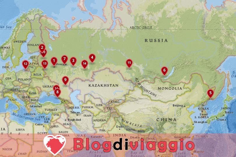 15 Migliori città da visitare in Russia