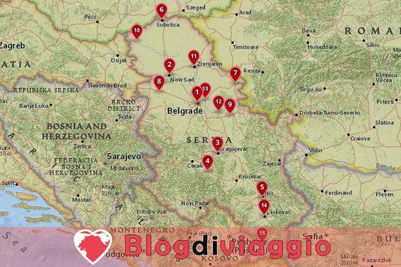 15 Migliori città da visitare in Serbia