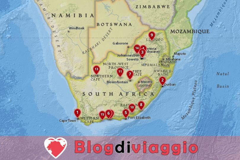15 Migliori città da visitare in Sudafrica