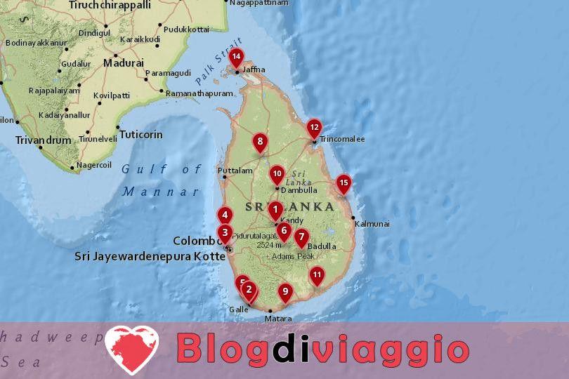 15 Migliori città da visitare in Sri Lanka