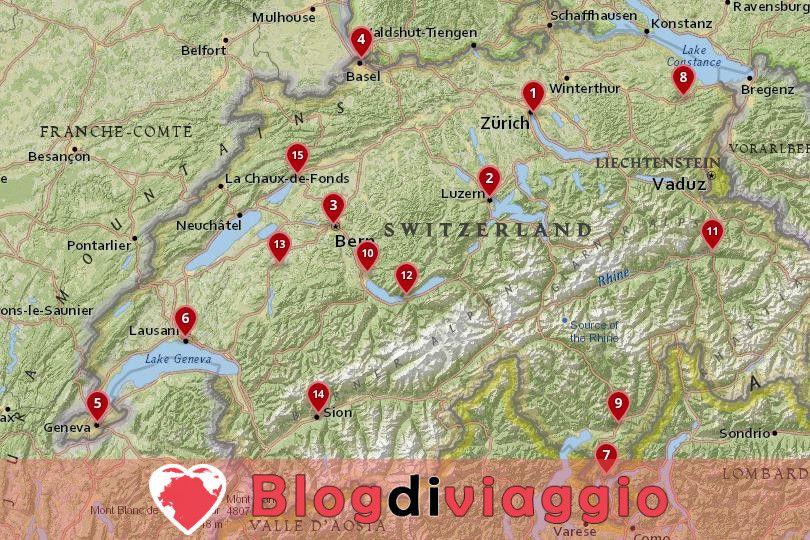 15 Migliori città da visitare in Svizzera