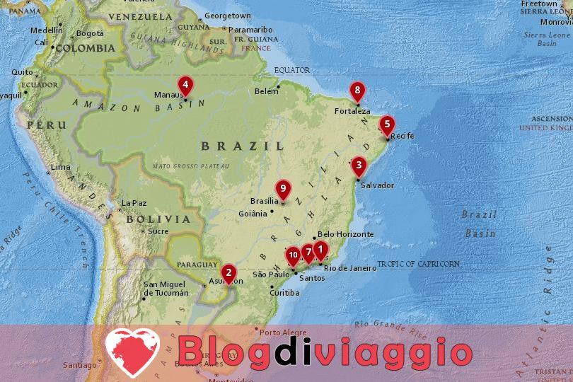 10 Luoghi da visitare in Brasile