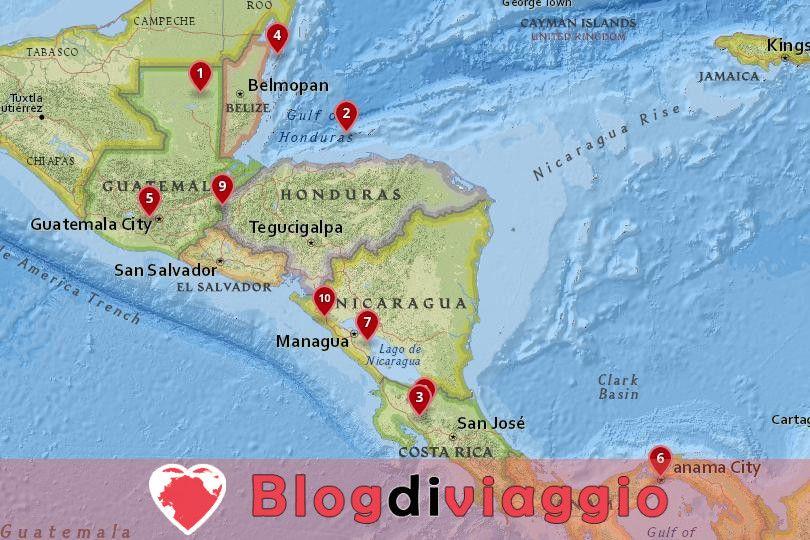 10 I migliori posti da visitare in America Centrale