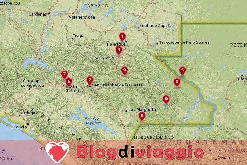 10 Luoghi da visitare in Chiapas, Messico