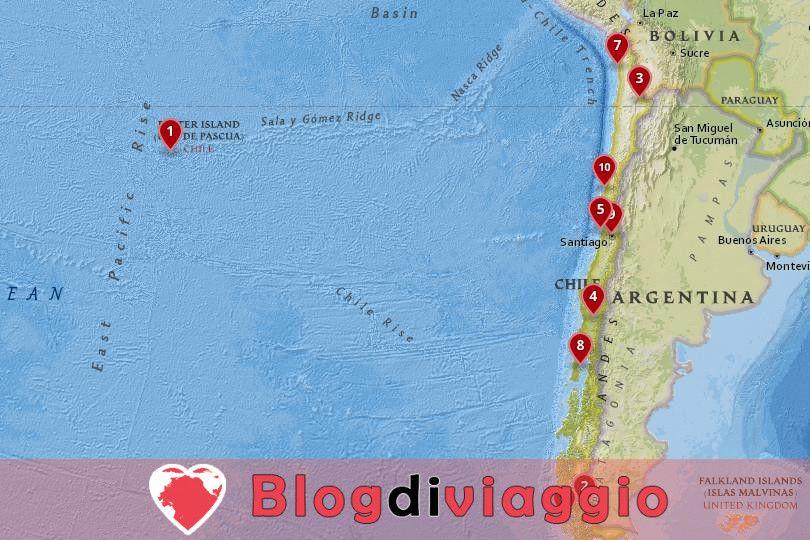 10 Luoghi da visitare in Cile