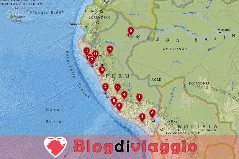 15 Migliori città da visitare in Perù