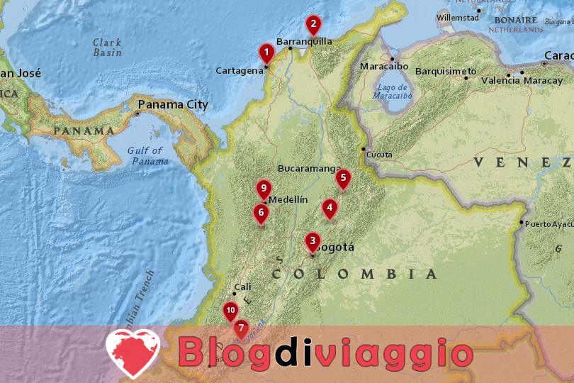10 Luoghi da visitare in Colombia