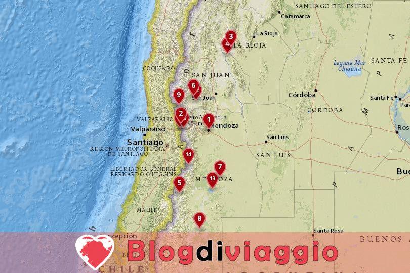 14 Luoghi da visitare a Cuyo, Argentina