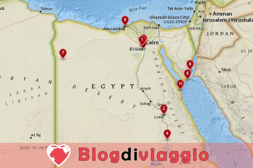 10 Luoghi da visitare in Egitto