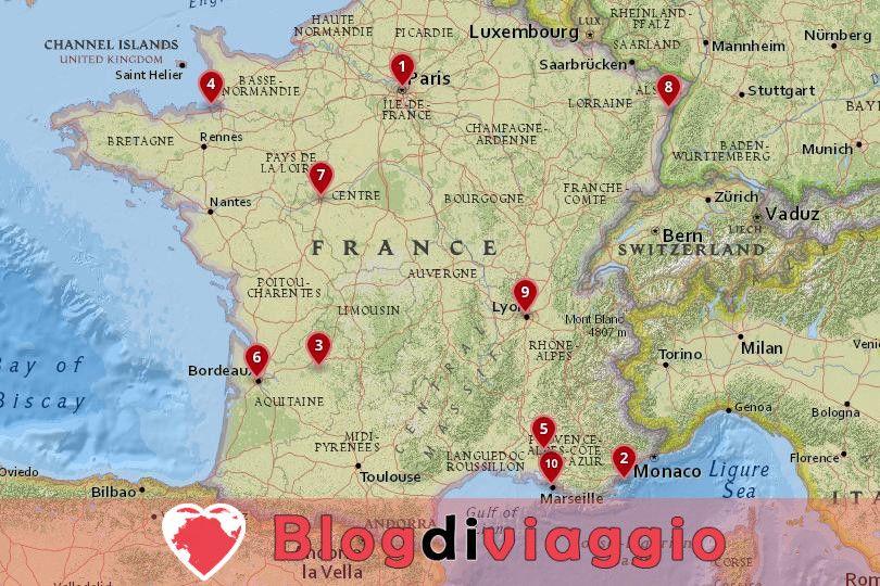 10 I migliori posti da visitare in Francia