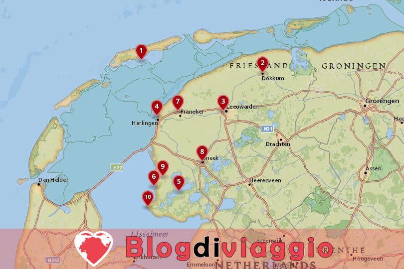 10 Luoghi da visitare in Frisia, Paesi Bassi