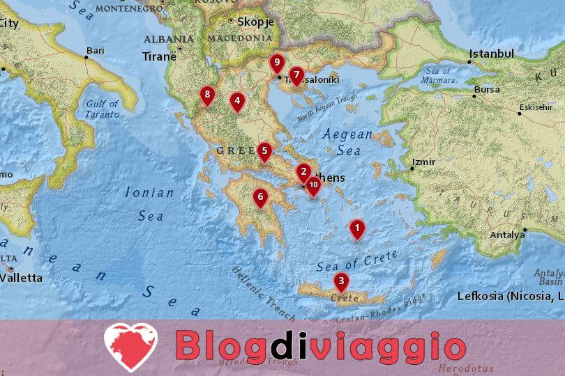 10 I migliori posti da visitare in Grecia