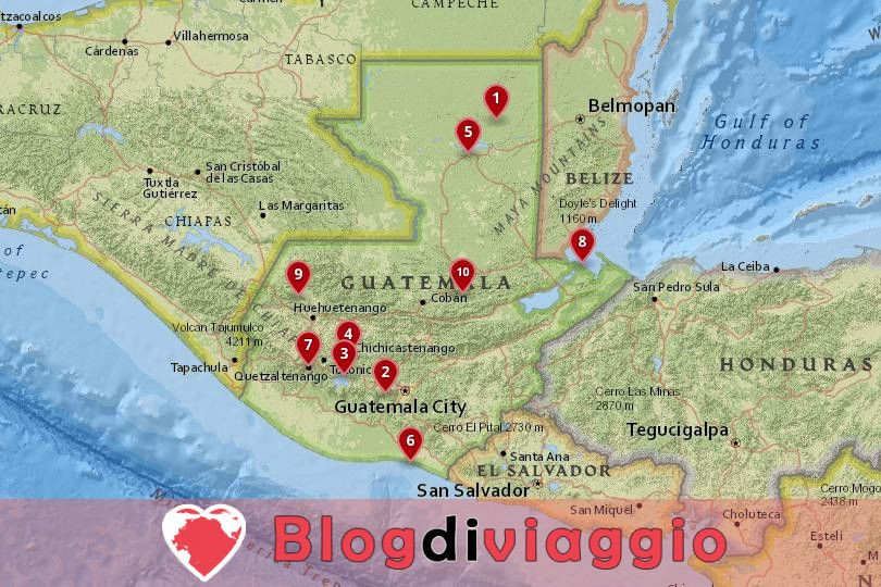 10 Luoghi da visitare in Guatemala