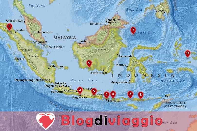 10 Luoghi da visitare in Indonesia