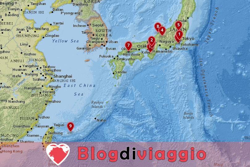 10 Migliori luoghi da visitare in Giappone