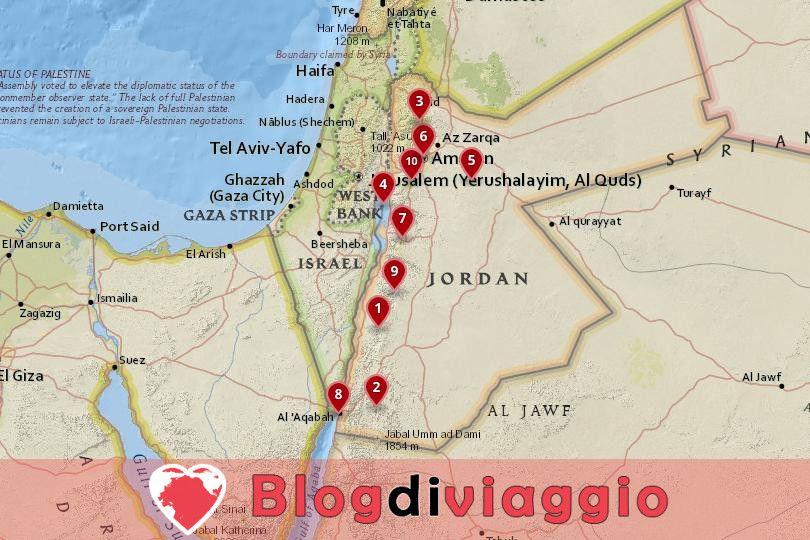 10 Luoghi da visitare in Giordania