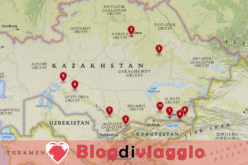 10 Luoghi da visitare in Kazakistan
