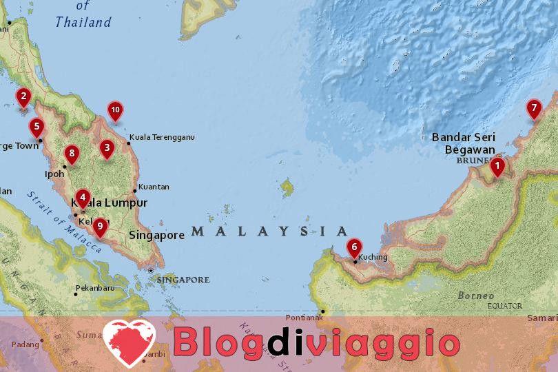 10 Luoghi da visitare in Malesia