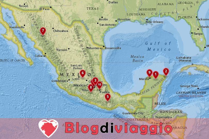 16 Luoghi da visitare in Messico