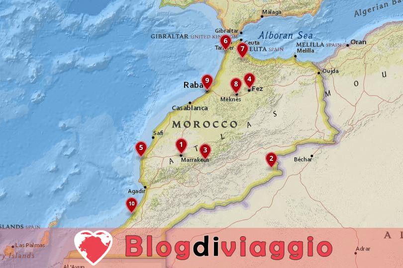 10 Luoghi da visitare in Marocco