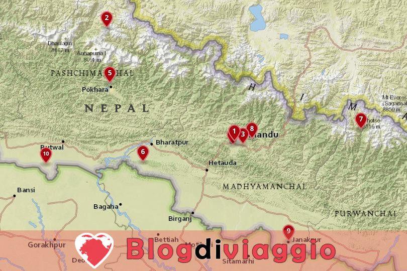 10 Luoghi da visitare in Nepal