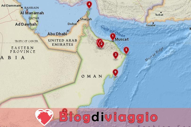 10 Luoghi da visitare in Oman