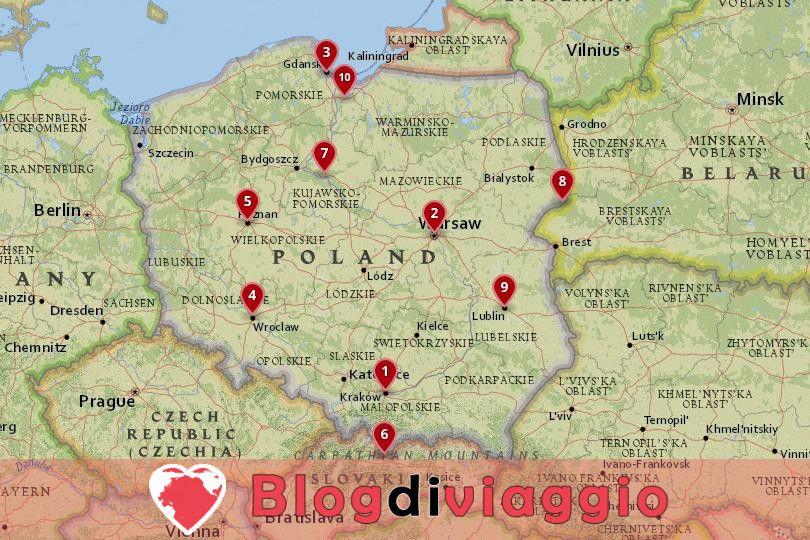 10 Luoghi da visitare in Polonia