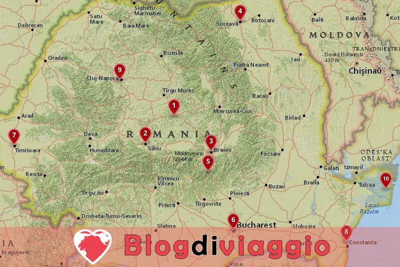 10 Luoghi da visitare in Romania