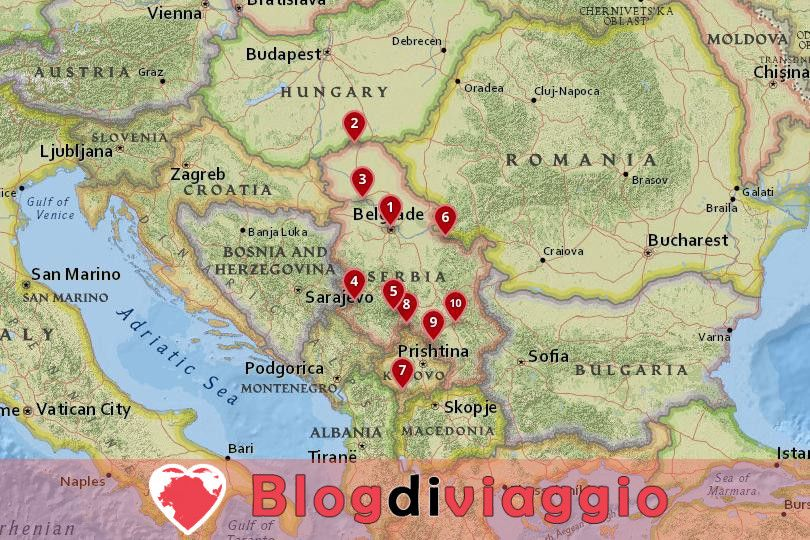 10 Luoghi da visitare in Serbia