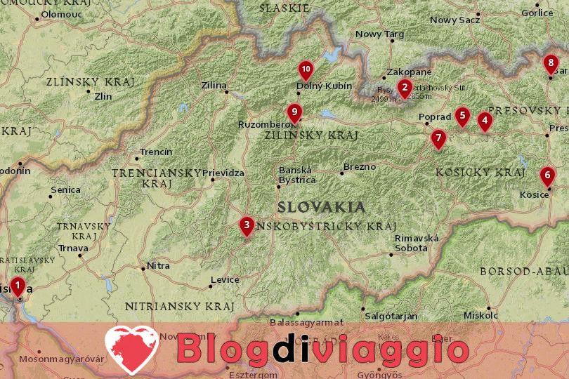 10 Luoghi da visitare in Slovacchia