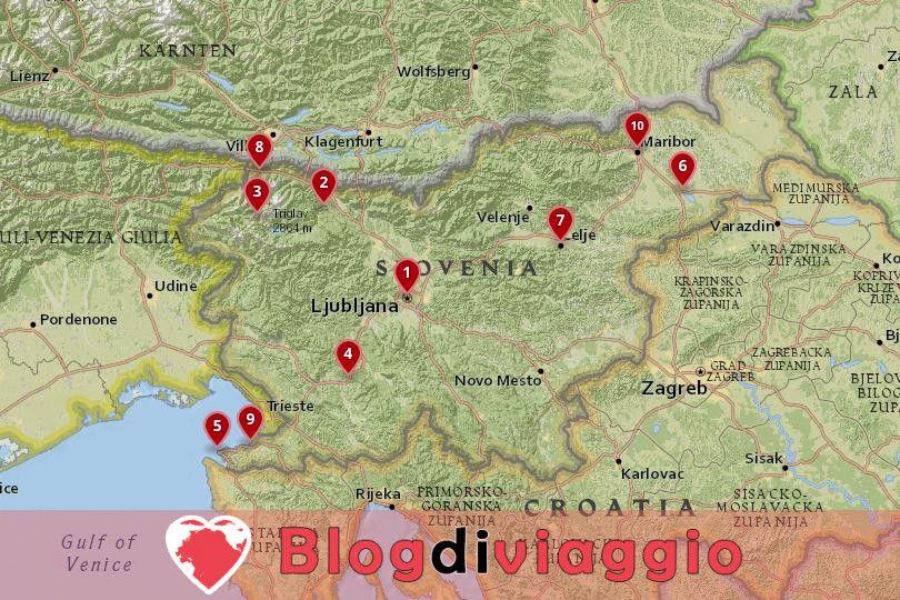 10 Luoghi da visitare in Slovenia