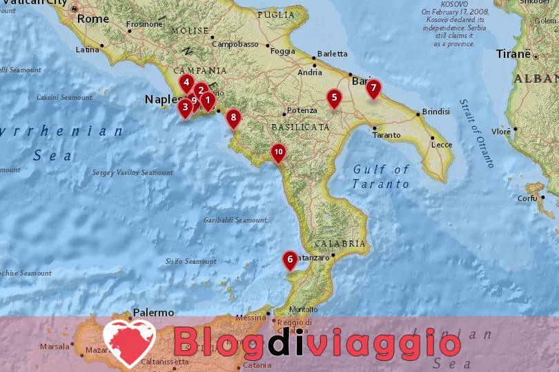 10 Destinazioni più sorprendenti nel Sud Italia