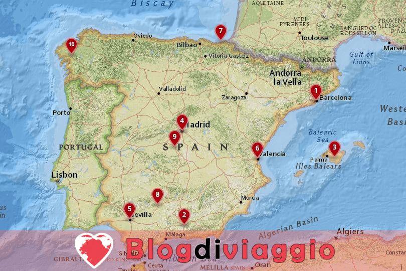 10 Luoghi da visitare in Spagna